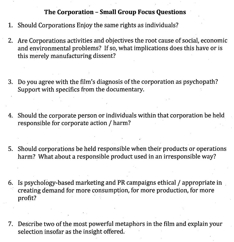 the corporation documentary summary